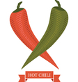 hot chili peppers vector image