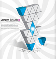 3D arrow abstract vector image