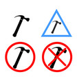 hammer icon with variations vector image