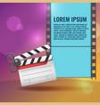scissors slate film entertainment background vector image
