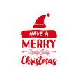 christmas text quote lettering card vector image