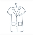 Nurse or doctor uniform isolated on white vector image vector image