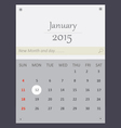 January 2015 Calendar vector image