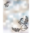 Abstract pastel background with butterflies vector image vector image
