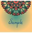 Abstract background with half mandala element vector image vector image