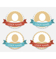 Set of user icons in retro style vector image