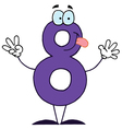 funny cartoon numbers-8 vector image vector image