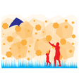 Fly kite vector image vector image