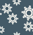 Abstract snowflake seamless pattern vector image