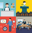 Business man meeting conference and brainstorming vector image