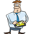 Businessman with tablet vector image