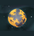 cartoon earth planet on space background vector image