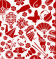 Chinese new year asian culture seamless pattern vector image