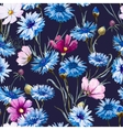 Cornflower watercolor pattern vector image