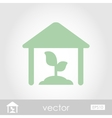 Greenhouse icon vector image