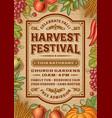 Vintage Harvest Festival Poster vector image