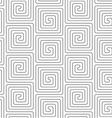 Slim gray vertical square spirals vector image