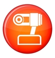 Webcam icon flat style vector image vector image