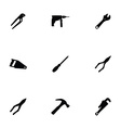 tools 9 icons set vector image