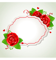 Decorative romantic banner with red roses vector image vector image