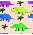 Triceratops seamless vector image