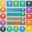 Award medal icon sign Set of twenty colored flat vector image
