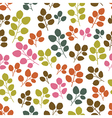 Colored seamless pattern with leaf in blue vector image