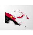 Papua New Guinea map with shadow effect vector image