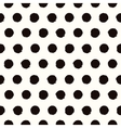Polka dot black and white painted seamless pattern vector image