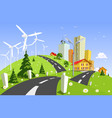 wind power plant vector image