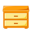 wooden bedside table isolated vector image