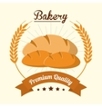 bread wreath bakery food icon graphic vector image