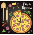 Pepperoni Pizza with vector image