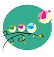 little bird family vector image vector image
