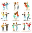 People Fighting And Quarrelling Making A Loud vector image