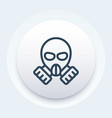 gas mask icon in linear style vector image