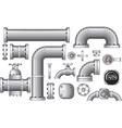 Pipeline construction pieces vector image