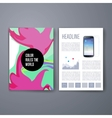 Colorful stains bright cards or pages layout vector image