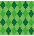 Argyle pattern green rhombus seamless texture vector image