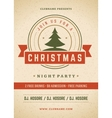 Merry Christmas party poster retro typography and vector image