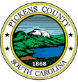 Pickens county seal vector image