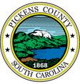 Pickens county seal vector image vector image