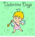 Cupid valentine days collection vector image
