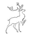 drawing of deer vector image