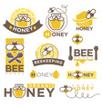 honey beekeeping product icons templates vector image