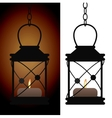 Old iron antique lantern lamp vector image