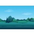 Seamless background summer landscape vector image