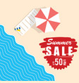 summer sale with beach item vector image