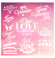 Valentines Day signs vector image
