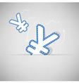 Yen Money icon design on background vector image